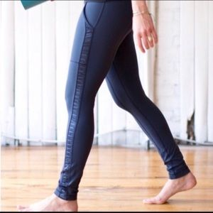 Lululemon || Black Long Pant With Pockets & Satin